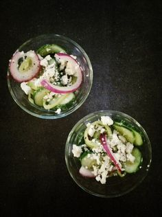 simple cucumber salad with banana peppers