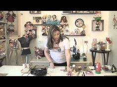 Passo a Passo - Ponteira em E.V.A - Bonequinha Lilika com a Artesã Daniela Barboza - - YouTube