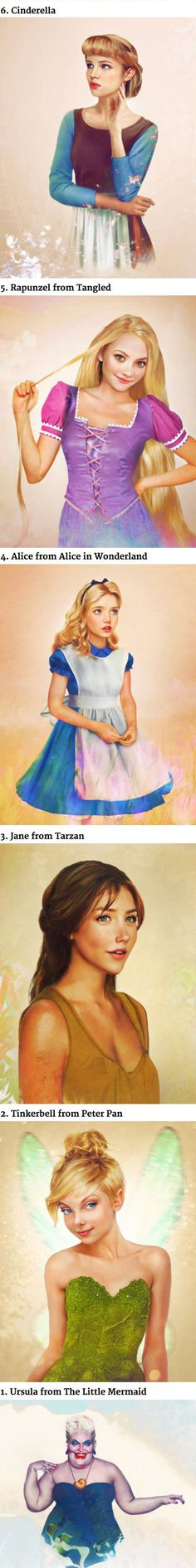 Woah. Disney Princesses in real life. Genius artist.