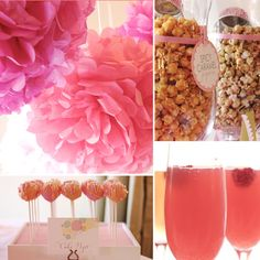 """Ready to """"Pop"""" Baby Shower. Creative """"pop"""" ideas ranging from mini champagne bottles to popcorn and of course cake pops! Vestidos Para Baby Shower, Baby Shower Dresses, Shower Party, Baby Shower Parties, Bridal Shower, Shower Time, Pop Baby Showers, Baby Shower Games, Mini Champagne Bottles"""