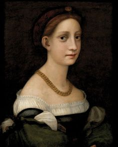 Artist: Follower of Pontormo Title: Portrait of a Lady Medium: Oil on panel Dates: 16th Century Staten Island Museum