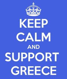 Keep calm & support Greece #design