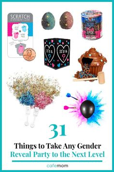 31 Things That Will Take Any Gender Reveal Party to the Next Level: Need some help planning the perfect gender reveal? These nifty products will make it all the more special. Glitter Cannon, Pregnancy Problems, Pregnancy Test, Baby Gender, Blue Glitter, Reveal Parties, Best Part Of Me, Gender Reveal, New Moms