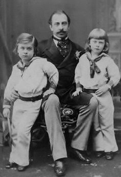 Duke of Teck   From left: Prince Francis, the Duke of Teck, Prince Adolphus