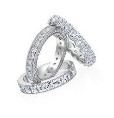 Diamond Wedding Bands by Bez Ambar, Precision Set and Razny Jewelers Custom Collection.
