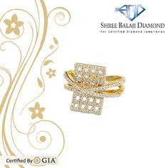 14K Gold Ring with 0.60 carat Belgium Cut Diamonds
