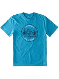 Life is Good Men's Happy Hour Jake Fishing Short Sleeve Crusher Tee, Available at #EssentialApparel