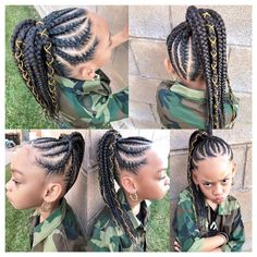 little-girl-hairstyles - Fab New Hairstyle 2 Black Kids Hairstyles, Cute Little Girl Hairstyles, Little Girl Braids, Girls Natural Hairstyles, Baby Girl Hairstyles, Black Girl Braids, Braids For Kids, Braids For Black Hair, Girls Braids