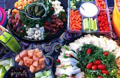 Generally space is limited at these pop up party facilities, so it's best to ensure all food is fully prepared and just needs to be uncovered and placed out.   Whish.ca Cobb Salad, Pop Up, Space, Tips, Party, Food, Floor Space, Advice, Parties