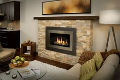 H4 Series shown with Decorative Rock Kit, Landscape Outer Surround and Brushed Nickel Inner Bezel
