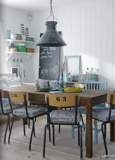 52 New ideas kitchen design rustic industrial interiors Dining Area, Industrial Dining, Industrial Decor, Kitchen Interior, Home Kitchens, Interior, Dining Room Industrial, Kitchen Dining Room, Home Decor