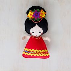 Frida Kahlo Felt Toy