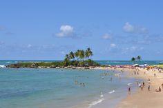 Um pouquinho das águas azuis de Morro de São Paulo! Essa é a Ilha da Saudade, que separa a segunda praia da terceira praia!