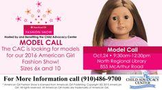 American Girl Fashion Show Model Call; North Region Library