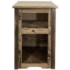 Mistana Katlyn Wood End Table Color: Stain and Lacquer End Tables For Sale, End Tables With Storage, Living Room Shop, Living Room Chairs, Rustic Barn, Barn Wood, Rustic End Tables, Stained Table, Chair Side Table