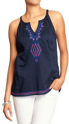 loving this boho embroidered top