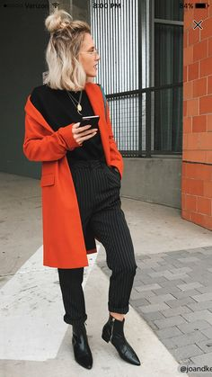 High-Rise Stripe Ankle Pants - Business Casual for Women Looks Chic, Looks Style, My Style, Business Outfit, Business Casual Outfits, Forever 21, Shop Forever, Fall Winter Outfits, Autumn Winter Fashion