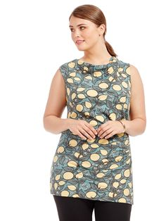 Lise Top In Citrus Print by Effie's Heart   Available in sizes L and 1X-4X
