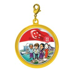 The Singapore Mint's SG50 Collection! GOLD-PLATED SG50 PENDANT