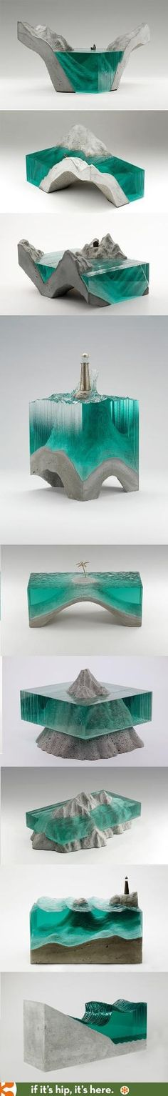 The glass and concrete sculptures of artist Ben Young by Divonsir Borges