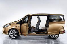 Genfer Autosalon: Der Ford B-Max ist ein Klein-Van mit hinteren Schiebetüren.