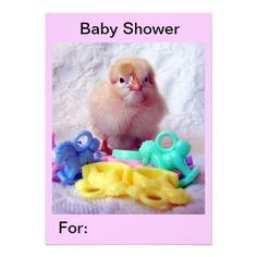 Baby Chick, Baby Shower Invite