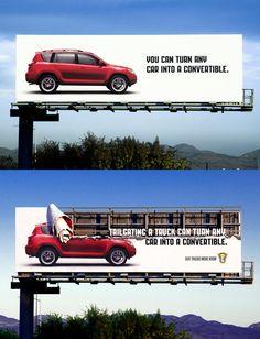 Creative Billboards | Turn Any Car Into A Convertible | 45 Creative Billboard Designs - Speckyboy Design Magazine