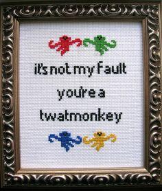"""""""Twatmonkey"""" by ladykatedb, via Flickr. Amazing."""