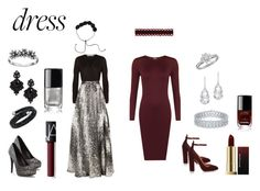 """Red Carpet Look"" by twenty-one-pilots-at-the-disco ❤ liked on Polyvore featuring Diane Von Furstenberg, WearAll, Aquazzura, Plukka, Tiffany & Co., Tasha, Swarovski, Primrose, Kevyn Aucoin and NARS Cosmetics"