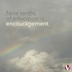 Proper encouragement is the key to positive growth. Click the rainbow to read this week's blog 'Wide Open'