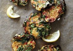Spinach and Spaghetti Squash Fritters | Vegetarian Times