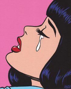 Black Bangs Crying Comic Girl от turddemon на Etsy