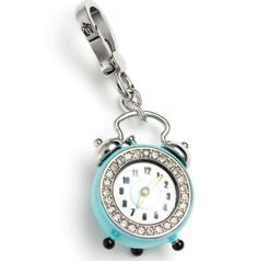 Juicy Couture Alarm Clock Charm YJRU4736 for bracelet keyfob satchel tote hobo bag retired www.ecrater.com/FRANS-COSMETICS-BARGAINS