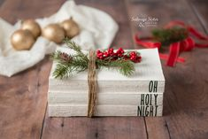 Rae Dunn Inspired Painted Books - Decorative Painted Farmhouse Christmas Books – Salvage Sister and Mister - Christmas Books, Christmas Signs, Christmas Crafts, Christmas Ideas, Fall Crafts, Crafts For Kids, Diy Crafts, Thrift Store Crafts, Vinyl Paper