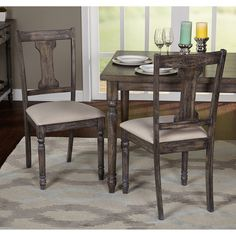 Simple Living Burntwood Dining Chairs (Set of 2) - 16810839 - Overstock.com Shopping - Great Deals on Simple Living Dining Chairs