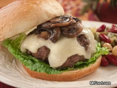 Sink Your Teeth Into Our Grilled Mushroom And Swiss Burgers And Get Ready For Some Flavorful Excitement. You'll Simply Love Our Thick, Juicy Beef Burgers Topped With Melty Swiss Cheese And A Heaping Helping Of Freshly Sauteed Mushrooms. Weber Grill Recipes, Grilling Recipes, Pork Recipes, Pork Meals, Mushroom Swiss Burger, Dry Soup Mix, Blue Cheese Burgers, Great Recipes, Pizza
