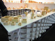 Ohashi stand at Maison&Objet Expo in Paris 2015, exhibiting traditional and modern Masu products #masu #ohashi #hakomasu #maisonetobjet #sla #suichoko #japanese #design