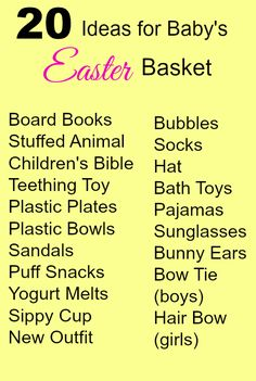 20 Ideas for Baby's Easter Basket #Easter #basket #baby