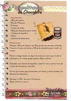 Tartas, Galletas Decoradas y Cupcakes: Napolitanas de Chocolate Chef Recipes, Kitchen Recipes, Sweet Recipes, Cookie Recipes, Nutella Oreos, Cupcakes, Cupcake Cakes, No Bake Desserts, Dessert Recipes