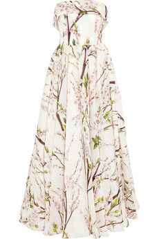 I love everything about this dress, even the length. Dolce & Gabbana Floral-print silk-organza gown | NET-A-PORTER