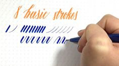 Want to learn brush lettering and brush calligraphy? This video is the perfect place to get started. In this video I'll show you the 8 basic strokes to maste...