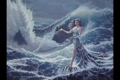 Song of Deep Water The Goddess Art of Jonathon Earl Bowser Goddess Of The Sea, Goddess Art, Fantasy Kunst, Fantasy Art, Fauna Marina, Mermaid Wallpapers, Dame Nature, Earth Design, Water Element