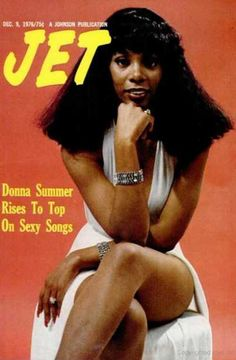 Donna Summer on the cover of Jet magazine, December 1976.
