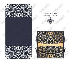 Laser Cut Wedding Card Template Paper Openwork Greeting Card Lace