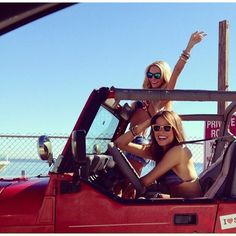 must rent a Jeep for summer road trip with my BFF! The Last Summer, Summer Of Love, Summer Fun, Summer Beach, Best Friend Goals, Best Friends, Friends Girls, Auto Girls, M Bmw