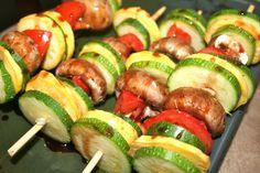 vegetable shish kabobs #paleo