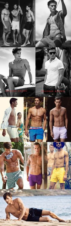 Men's 2014 Swimwear Recommendations: The Tailored Swim Short Lookbook Inspiration