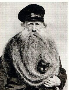 Man with cat in beard...two of my favourite things.