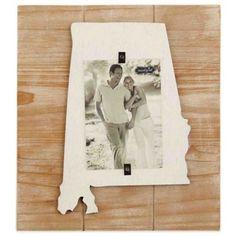 Mud Pie® Alabama 4-Inch x 6-Inch Wood Picture Frame - BedBathandBeyond.com