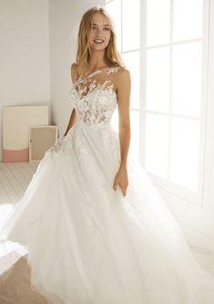 Moda nupcial blanco uno Brautmode White One Mermaid Wedding Dress With Sleeves, Wedding Dress Chiffon, Wedding Dresses Plus Size, Elegant Wedding Dress, Cheap Wedding Dress, Dream Wedding Dresses, Designer Wedding Dresses, Tulle Wedding, Lace Mermaid